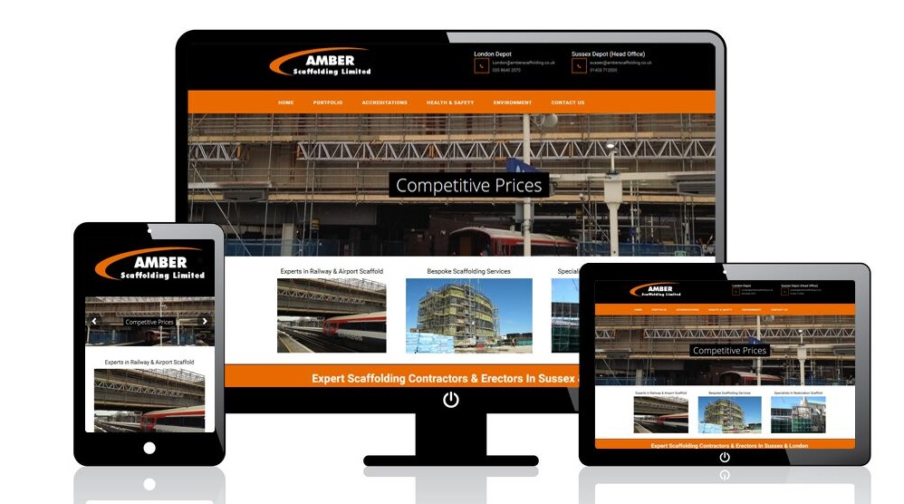 Web Designer for Amber Scaffolding Ltd